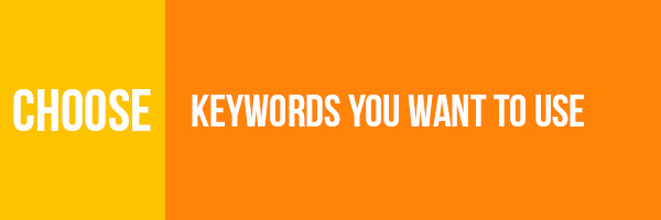 Choosing Keywords you need